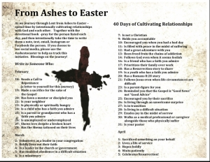 Ashes to Easter